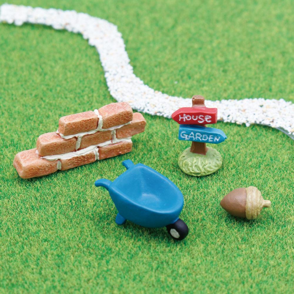 オリジナルのジオラマ作りにオススメの可愛いマスコットセット インテリア小物 ミニミニフレンズセット カート 安心の定価販売 レンガ サイン ドングリ お気にいる ミニチュア 装飾 可愛い 置物 かわいい フィギュア あす楽対応 小物 動物