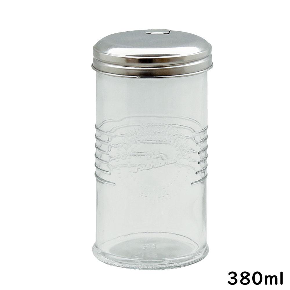 在庫処分 長く使えるガラス製保存容器 380ml ガラス 保存容器 オールドスタイル あす楽対応 キャニスター シュガーディスペンサー 砂糖 ガラス瓶 35%OFF
