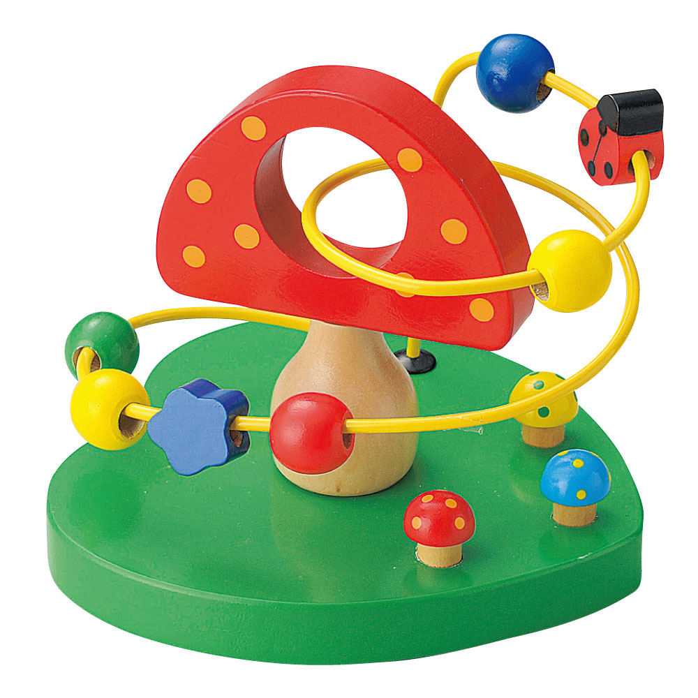 超定番 温かみのある天然木使用 プラスチックでは感じることができない温もりを大切なお子様へ 流行 知育玩具 木のおもちゃ 1歳 から ウッデントイ ビーズコースター きのこ 1才 天然素材 ギフト あす楽対応 誕生日プレゼント 3才 2才 木製玩具 プレゼント 天然木 子どものおもちゃ