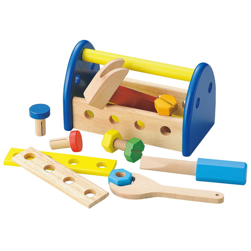 温かみのある天然木使用 プラスチックでは感じることができない温もりを大切なお子様へ 知育玩具 木のおもちゃ 1歳半 から ウッデントイ ちいさなだいくさん 1才半 在庫あり 2才 誕生日プレゼント 子どものおもちゃ プレゼント 木製玩具 天然素材 ギフト 3才 天然木 あす楽対応 大工 至上