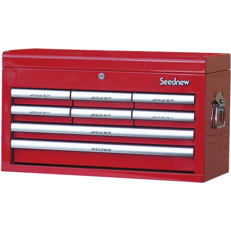 高速配送 Seednew ツールチェスト(8引き出し) 赤 S-R908(RED)【代金引換不可】, 商芸文具 c13d0be5