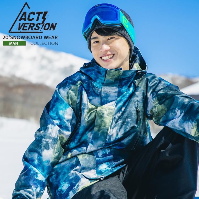 スノーボードウェア スキーウェア メンズ上下セット 2019-2020 新作 スノーボード スキー対応 スノボ スノボー ウェアー ウエア ストレッチ 20ウェアー