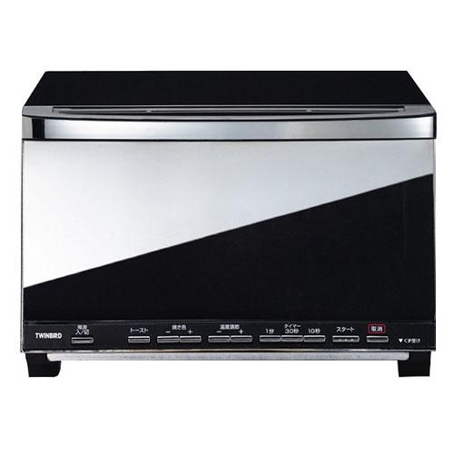 [ポイント10倍][SB]ツインバード ミラーガラスオーブントースター ブラック TS-D057B