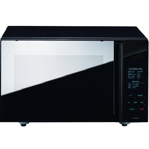 [SB]ツインバード ミラーガラスフラット電子レンジ ブラック DR-4259B