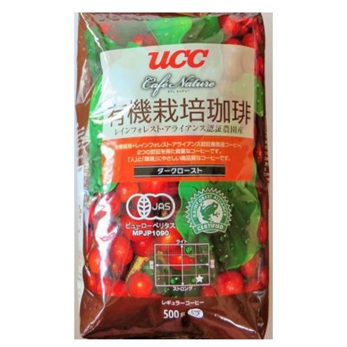 [ポイント10倍][SB]UCC上島珈琲 UCC CN有機+RA認証コーヒーダークロースト(豆)AP500g 12袋入り UCC302816000