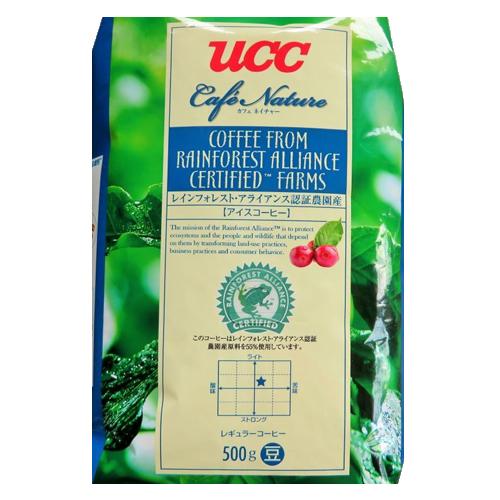 [ポイント10倍][SB]UCC上島珈琲 カフェネイチャー レインフォレストアライアンス認証アイスコーヒー豆AP500g 12袋入り UCC302679000
