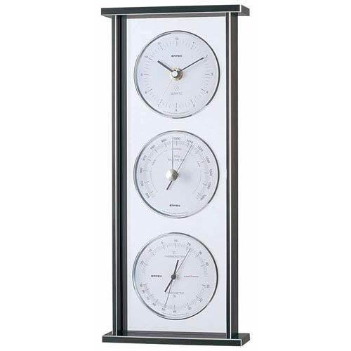 [ポイント10倍][SB]EMPEX スーパーEX ギャラリー気象計・時計 EX-793 シルバー