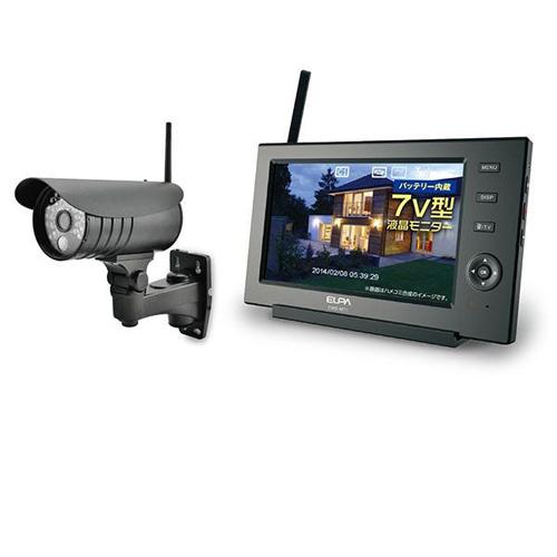 [ポイント10倍][SB]ELPA ワイヤレスカメラ&モニター 防水型カメラ CMS-7110