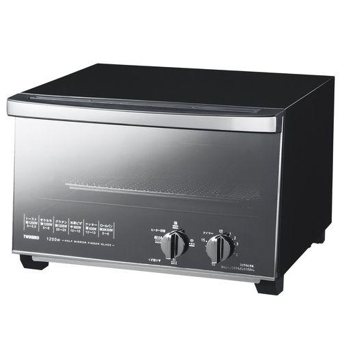 [ポイント10倍][SB]ツインバード ミラーガラスオーブントースター ブラック TS-D047B
