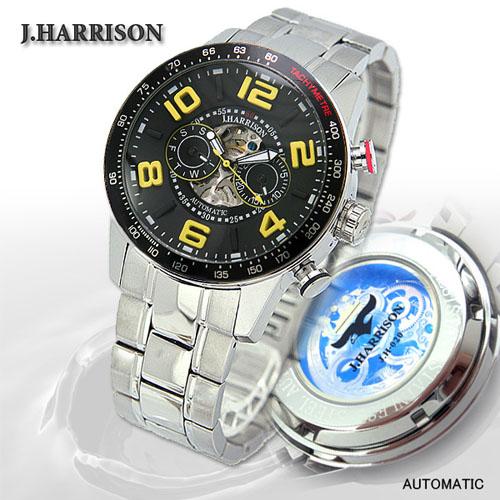 [ポイント10倍][SB]J.HARRISON 8石天然ダイヤモンド付自動巻&手巻き時計 JH-020BY