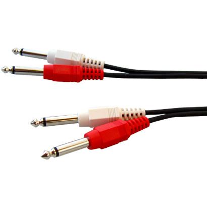 (3m)ミキサー・楽器用アンプ・シンセサイザーなどの接続に [W]オーディオラインケーブル 標準プラグ(フォンプラグ)×2-標準プラグ(フォンプラグ)×2 3m FVC-M380B/FVCM380B