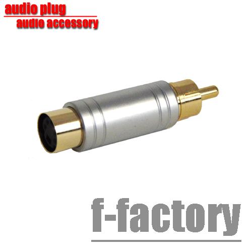 S端子プラグを⇒ピン RCA プラグに変換 変換プラグ R S端子 C060 正規激安 オス C-060 -RCA メス バーゲンセール