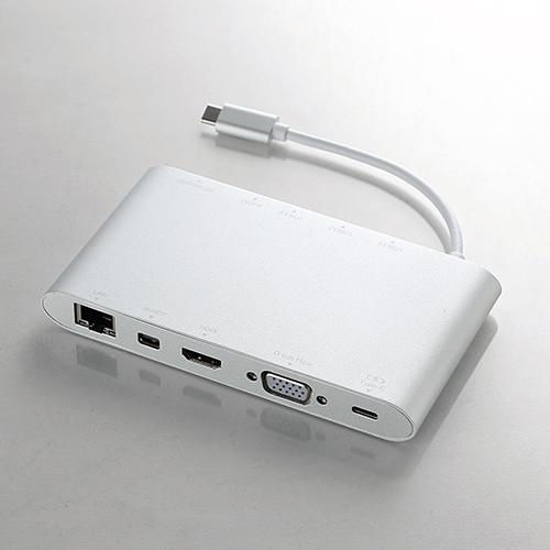 [ELECOM(エレコム)] USB Type-C接続ドッキングステーション(PD対応) DST-C01SV / dstc01sv