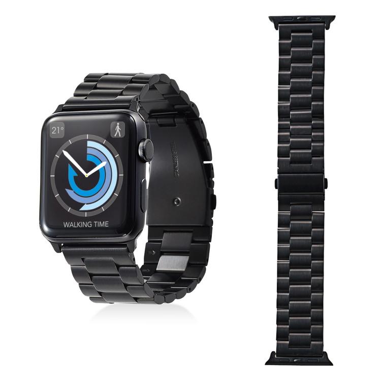[ポイント10倍][ELECOM(エレコム)] Apple Watch 42mm/ステンレスバンド/3連タイプ/ブラックAW-42BDSS3BK / aw42bdss3bk