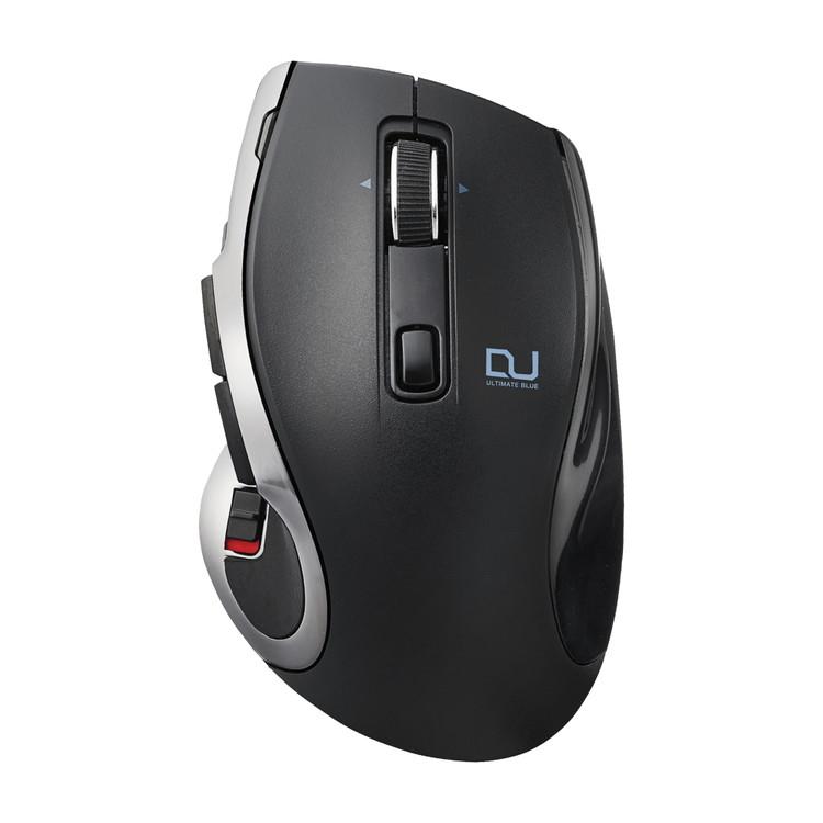 [ポイント10倍][ELECOM(エレコム)] Ultimate Blueマウス/DUALシリーズ/ハードウェアマクロ搭載/高速スクロール/無線・Bluetooth切替/8ボタン/ブラックM-DC01MBBK / mdc01mbbk