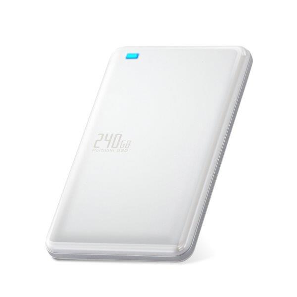[ポイント10倍][ELECOM(エレコム)] USB3.1(Gen1)対応外付けポータブルSSD ESD-ED0240GWH/ESDED0240GWH