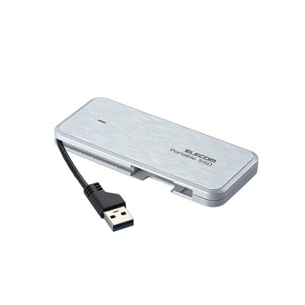 [ELECOM] ケーブル収納型外付けポータブルSSD ESD-EC0480GWH / ESDEC0480GWH