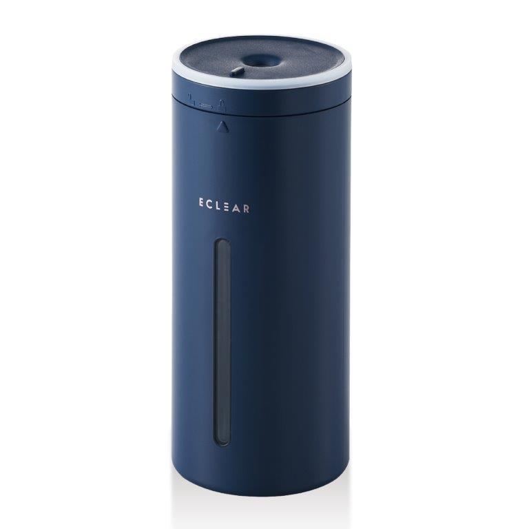 ポイント10倍 ELECOM 高価値 加湿器 アロマディフューザー 超音波式 抗菌 卓上 車載 350ml コンパクト 超安い HCEHU2104UNV USB給電 スリム ネイビー HCE-HU2104UNV