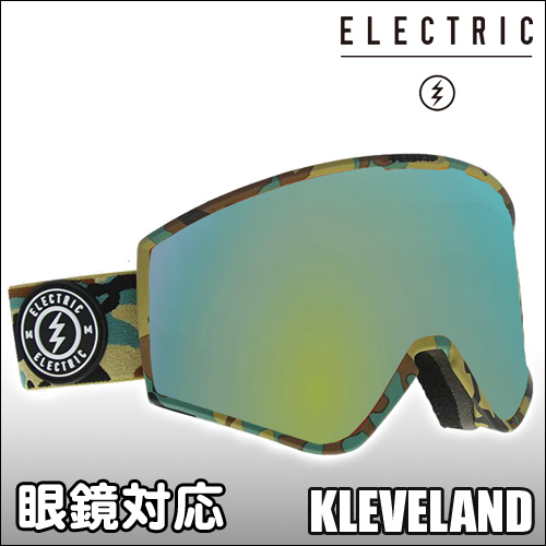 ELECTRIC[エレクトリック] 【18/19・KLEVELAND】CAMO : GREY/GOLD CHROME