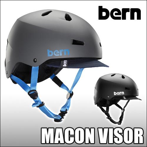 [日本正規取扱品・ジャパンフィット]Bern[バーン] ヘルメット【MACON VISOR Summer Asian Fit】イヤーパッドなしのオールシーズンモデル大人用ヘルメットメーコン バイザー付モデル
