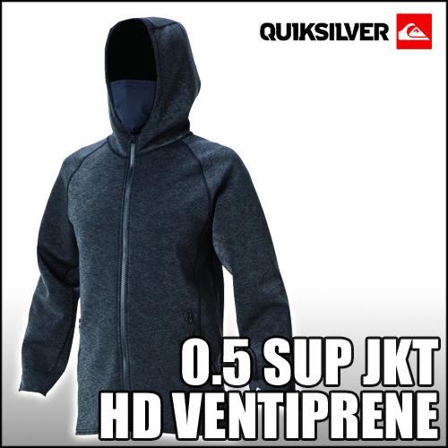 QUIKSILVER[クイックシルバー]【0.5 SUP JKT HD VENTIPRENE】ネオプレーン素材のジップフード!!サーフィン,SUP,トレジャーボート,ヨットでの防風に最適!