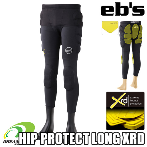 eb's 【20/21·HIP PROTECT LONG XRD:BLACK】 エビス プロテクター ポロン エックスアールディー 衝撃に反応して硬化する軽量最先端衝撃吸収素材を採用した高機能モデル スキー スノーボード プロテクション