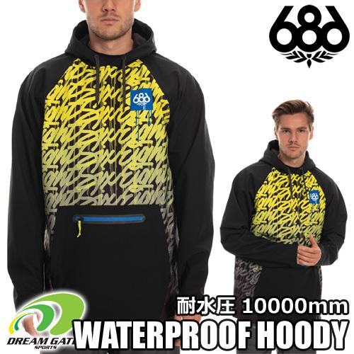 686【WATERPROOF HOODY:BLACK ITS A LIVING】シックスエイトシックス ロクハチロク sixeightsix スキー スノボ スノーボード ウェアー ウォータープルーフフーディー 撥水パーカー 耐水圧10000mm
