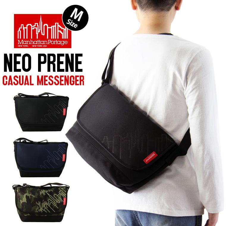 Manhattan Portage マンハッタンポーテージ Neoprene Casual Messenger Bag ネオプレン カジュアル メッセンジャー バッグ (Mサイズ) ( メンズ レディース ショルダーバッグ 鞄 MP1606JRNP2 )