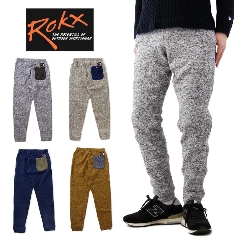 ROKX ロックス GOOSE PANT グース パンツ ( 裏起毛 クライミングパンツ ニットライク フリース メンズ RXMF6301 )