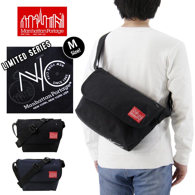 Manhattan Portage マンハッタンポーテージ NYC Print Casual Messenger Bag NYCプリント カジュアル メッセンジャーバッグ (Mサイズ) / メンズ レディース ショルダーバッグ MP1606JRNYC18SS