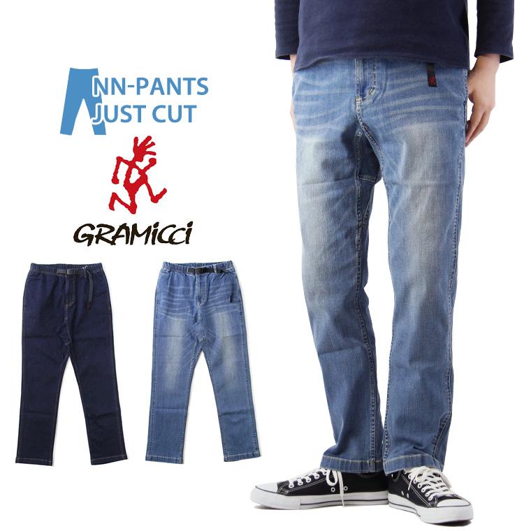 GRAMICCI グラミチ DENIM NN-PANTS JUST CUT デニム ニューナロー パンツ ジャストカット / メンズ New Narrow Pants NNパンツ クライミングパンツ イージーパンツ 8817-DEJ