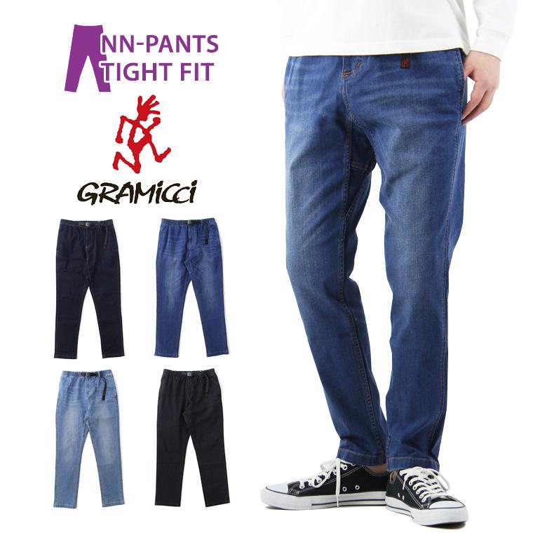 GRAMICCI グラミチ DENIM NN-PANTS THGHT FIT デニム ニューナロー パンツ タイトフィット / メンズ New Narrow Pants NNパンツ クライミングパンツ イージーパンツ GMP-19S010
