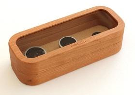 【送料無料】 Hacoa 木製レンズケースセット Collection Case for Smartphone Camera Lens チェリー H957-C/スマホ・レンズおしゃれ