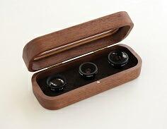 【送料無料】 Hacoa 木製レンズケースセット Collection Case for Smartphone Camera Lens ウォルナット H957-W【スマホ・タブレットのアクセサリー専門店 スマートフォンアクセサリー スマートフォン用カメラレンズ フューチャモバイル】おしゃれ