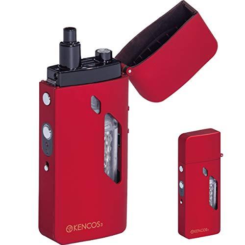 【プレゼント付】 ポータブル水素ガス吸引器具 KENCOS3 (レッド) 電解液付 /在庫あり/ 送料無料 赤 ブリージングデバイス ブレス