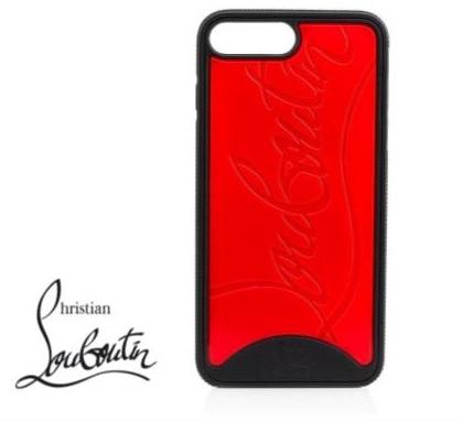 Christian Louboutin クリスチャン ルブタン iPhone8 iphone7 ケース Loubiphone Sneakers case ブラック レッド CLS-I8BR/ 在庫あり/ アイフォン8 アイフォン7 おしゃれ 大人可愛い スマホケース
