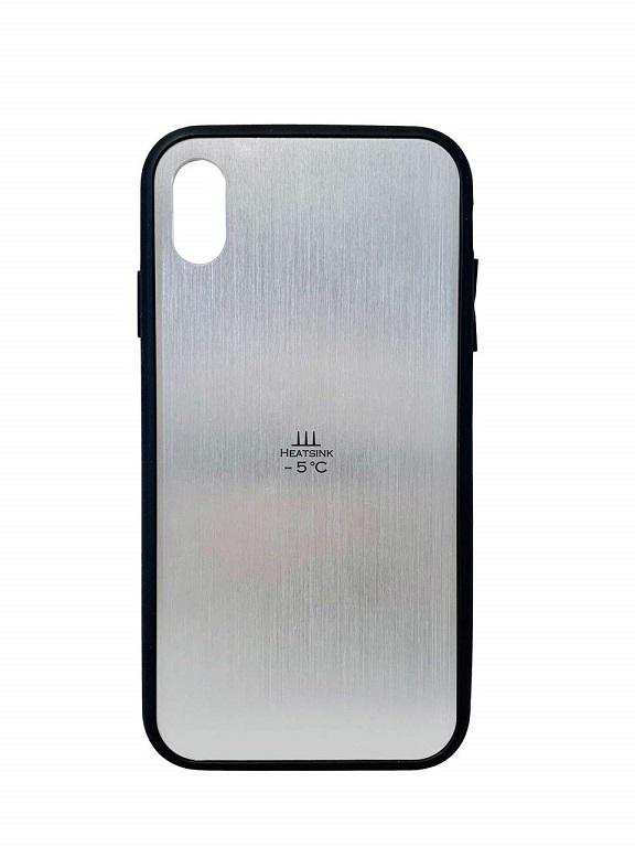 iPhoneXS MAX 冷却スマホケース HEATSINK-5℃ Cool HS5C-CL-XS /在庫あり/ 送料無料 サンハヤト アイフォンxsマックス シルバー スマホケース おしゃれ