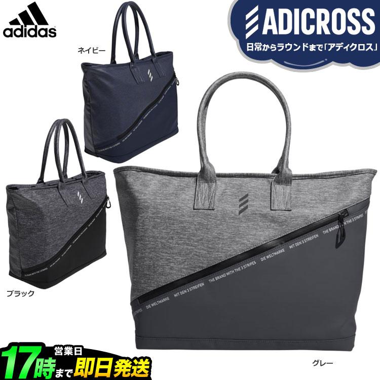 2019年モデル アディダス ゴルフ HFF76 ADICROSS ヘザー トートバッグ (メンズ)