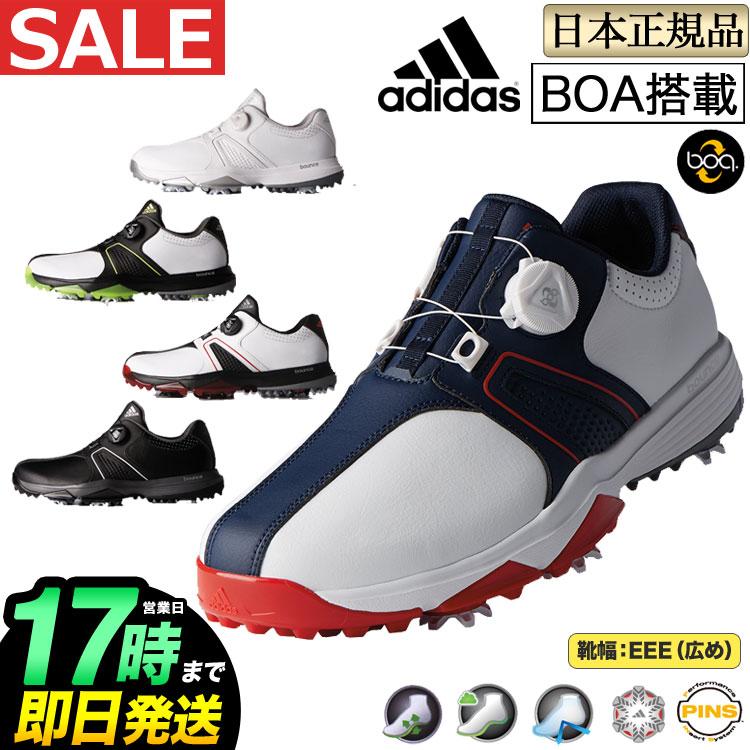 ゴルフシューズ WD(メンズ) 日本正規品adidas ボア ワイド/traxion Boa 360トラクション アディダス
