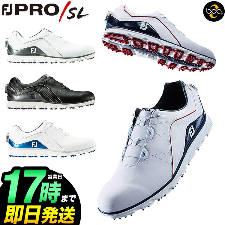 日本正規品フットジョイ ゴルフシューズ NEW FJ Pro/SL Boa プロSL ボア (ウィズ:W)