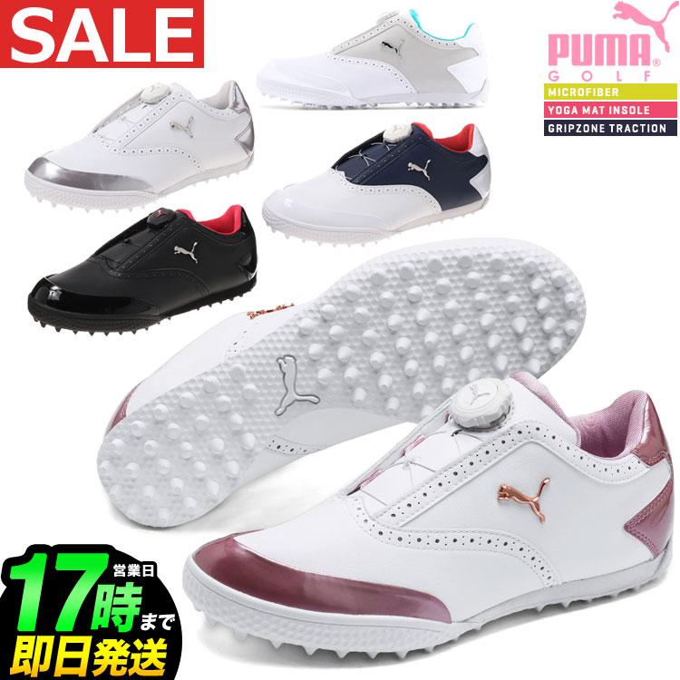 日本正規品 2018年新作 PUMA GOLF プーマ ゴルフシューズ 190587 MONOLITE CAT DISC モノライト キャット ディスク (レディース) 【U10】