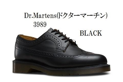[Dr.Martens]ドクターマーチン 3989 BROUGUE ウイングチップ 13844001 13844600 正規代理店商品 メンズ レディス