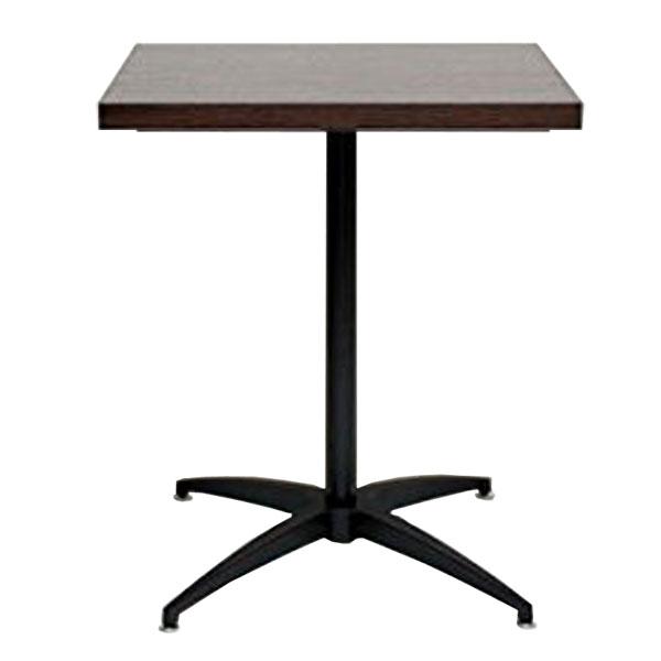 日本製 カフェ風テーブル コーヒーテーブル 高品質新品 サイドテーブル カフェテーブル角 カフェテーブル60 カフェテーブル1本脚 送料無料 角型 ファーストルームズ カフェテーブル 幅60×奥行60×高さ72cm 正方形 ダークブラウン
