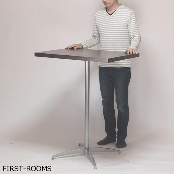 カウンターテーブル スタンディングデスク 幅80×奥行60×高さ102.2cm ダークブラウン【補強板付】【カフェルック】【訳あり】【アウトレット】