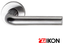 ZI-IKONレバーハンドルKF-25701アルミナチュラルシルバー色レバーハンドル用丸座付(扉厚36mm~45mm対応)