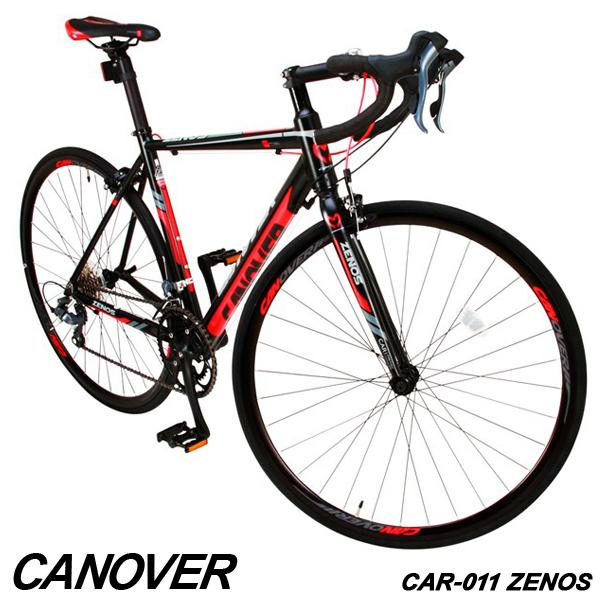 ロードバイク 自転車 700c デュアルコントロールレバー 16段変速 軽量 アルミ ライト付 CANOVER カノーバー CAR-011 ZENOS【組立必要品】