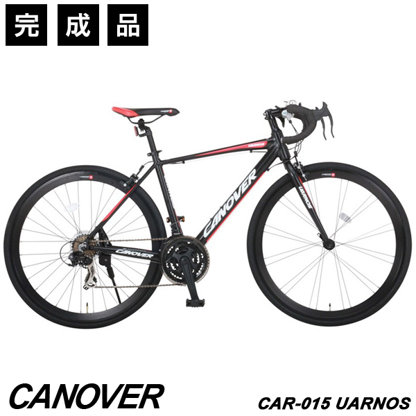 ロードバイク 自転車 完成品 700c 21段変速 軽量 アルミ エアロチューブ アヘッドステム CANOVER カノーバー CAR-015 UARNOS【完全組立】