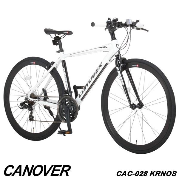 【在庫処分特価 セール】クロスバイク 自転車 700C 21段変速 軽量 アルミ エアロチューブ CANOVER カノーバー CAC-028 KRNOS【組立必要品】