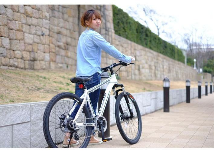 マウンテンバイク 自転車 26インチ ブロックタイヤ アルミフレーム 24段変速 ディスクブレーキ  ロングリーチサスペンション CANOVER カノーバー CAMT-043-DD ATLAS【組立必要品】