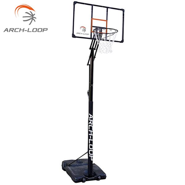 バスケットゴール アーチループ アクリルボード 一般 ミニバス対応 アクショングリップ式高さ調節 ARCH-LOOP バスケットボールゴール ALG03